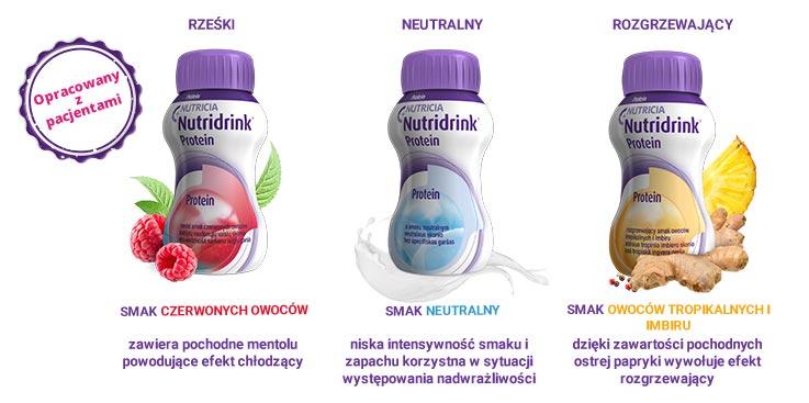 Zdjęcia butelek produktu Nutridrink - Nowe smaki