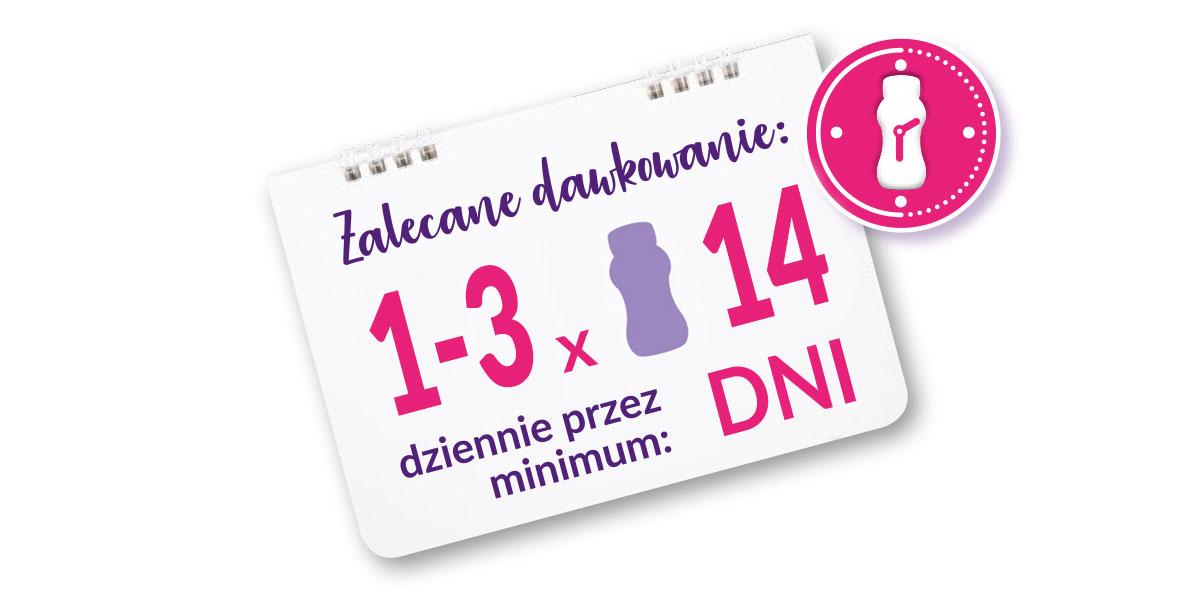 Kartka z kalendarza - informacje o dawkowaniu Nutridrink